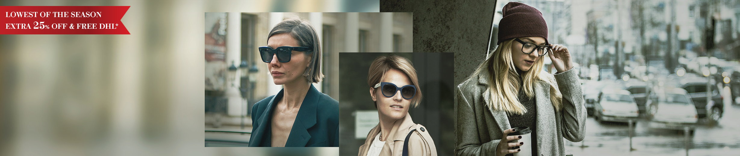 Glassesgallery - Woman eyewear banner