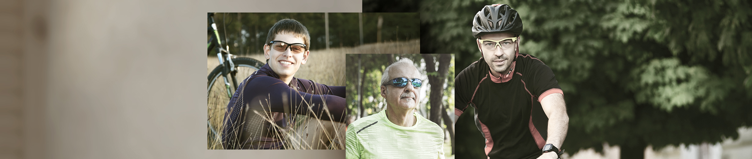 Glassesgallery - Men sportsglasses banner