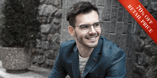 addc9c2f8380 Man wearing MODO prescription glasses with a confident smile