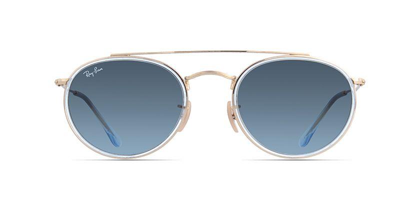 216e686229 Ray-Ban Round Double Bridge RB3647N Gold prescription Sunglasses