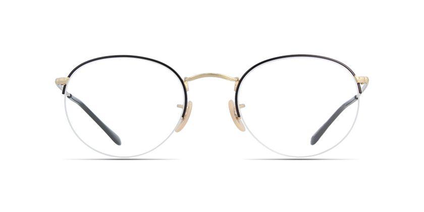 f7859e73975 Ray-Ban Round Gaze RB3947V Black prescription Eyeglasses