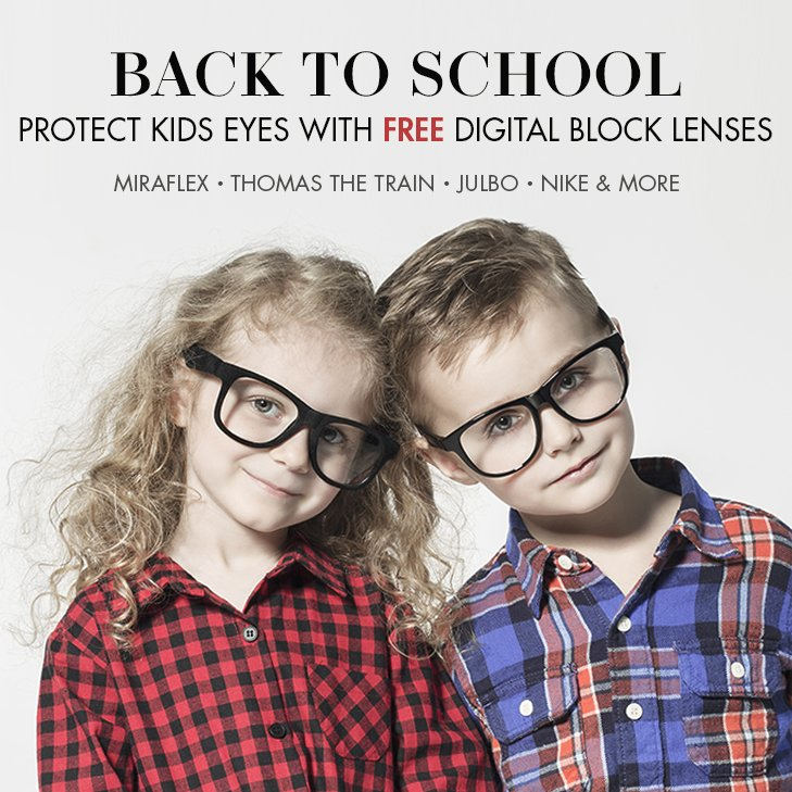 Protect Kids eyes with free digital block lenses